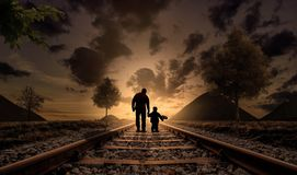 Father And Son, Happiness, Love Stock Photography