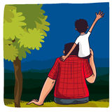 Father and son for Happy Fathers Day celebration. Royalty Free Stock Images