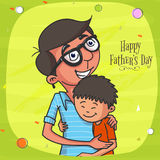 Father and son for Happy Fathers Day celebration. Stock Photos