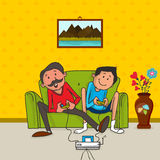 Father and son for Happy Fathers Day celebration. Stock Images