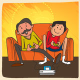 Father and son for Happy Fathers Day celebration. Stock Photo