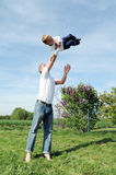 Father and son - happy together Stock Photos
