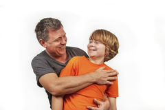 Father and son happy together Royalty Free Stock Photos