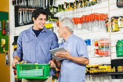 Father And Son In Hardware Store Stock Photos