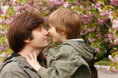 Father and son have fun Stock Photo