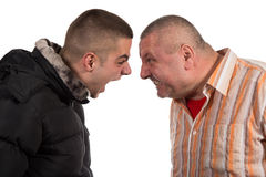 Father and son having an argument Royalty Free Stock Photos