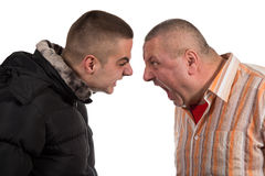 Father and son having an argument Stock Images