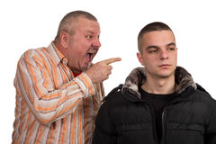 Father and son having an argument Stock Photography