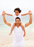 Father and son having fun Stock Photos