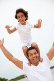 Father and son having fun Royalty Free Stock Photography
