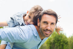 Father and son having fun Stock Images