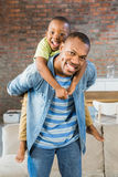 Father and son having fun at home Royalty Free Stock Photography