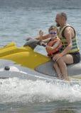 Family holiday jetski water sports Bulgaria royalty free stock photos