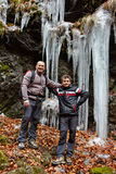 Father and son hiking Royalty Free Stock Image