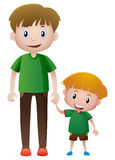 Father and son holding hands. Illustration Stock Images