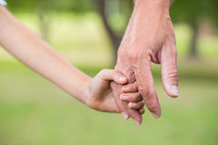 Father and son holding hands in the park Royalty Free Stock Images