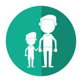 Father and son holding hands shadow Royalty Free Stock Photo