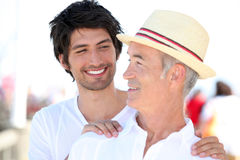 Father and son on holiday Stock Photo