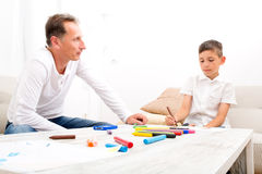 Father and son at home Royalty Free Stock Photography