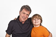 Father and son hugging. The other Royalty Free Stock Images