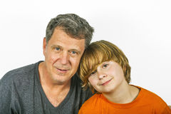 Father and son hugging Royalty Free Stock Photos