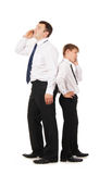 Father and son isolated on white Stock Photos
