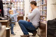 Father and son make shopping Stock Image