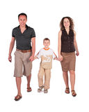 Father, son and mother go having joined hands Stock Photography