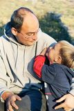 Father and son on natural background Stock Photography