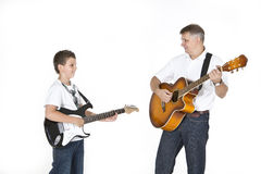 Father and son ocking together Stock Image