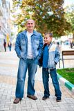 Father and son outdoor Royalty Free Stock Images