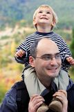 Father and son outdoor Royalty Free Stock Photography
