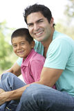 Father And Son In Park Royalty Free Stock Images