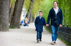 Father and son at park Royalty Free Stock Image