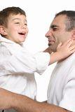 Father and son play Royalty Free Stock Photography