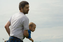 Father and son at play Stock Image