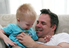 Father and Son Play Royalty Free Stock Image