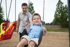 Father and Son in Playground Royalty Free Stock Photography
