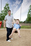 Father and Son at Playground Royalty Free Stock Photography