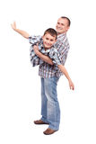 Father and son playing Stock Photos