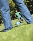 Father and son playing. Royalty Free Stock Photography
