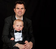 Father and son portrait Royalty Free Stock Photography