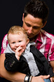 Father and son portrait Stock Photo