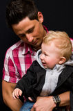 Father and son portrait Royalty Free Stock Images
