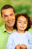 Father and son portrait Stock Image