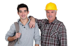 Father and son portrait Royalty Free Stock Photos