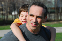 Father son portrait Royalty Free Stock Photos