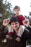 Father and son portrait Royalty Free Stock Photo