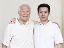 Father and son. Portrait of asian father and son Stock Photos