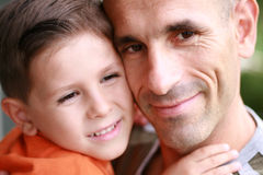 Father and son portrait smiling Royalty Free Stock Photos